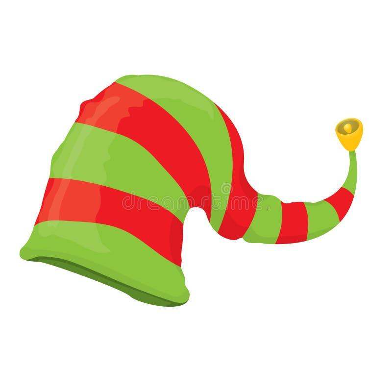 De hoed van het Kerstmiself Vector illustratie vector illustratie