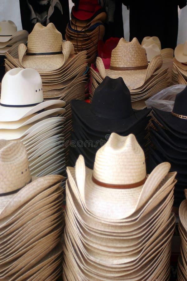 De Hoeden van de cowboy stock foto's