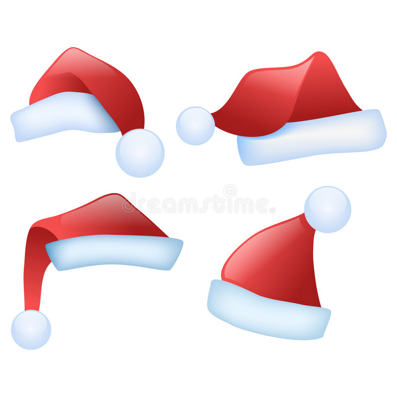 De hoeden van de kerstman royalty-vrije illustratie