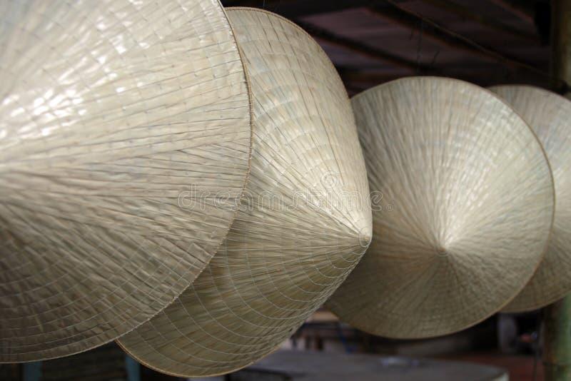 De hoeden van het stro stock fotografie