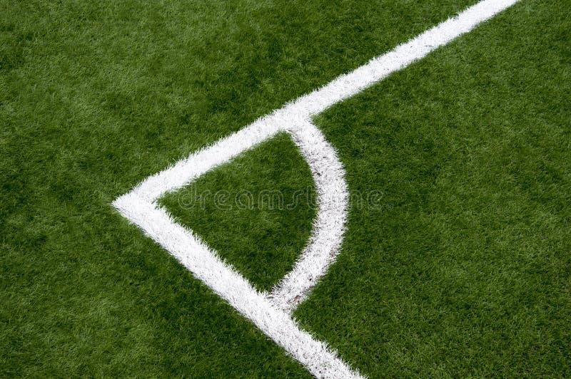De hoek van het voetbal stock foto
