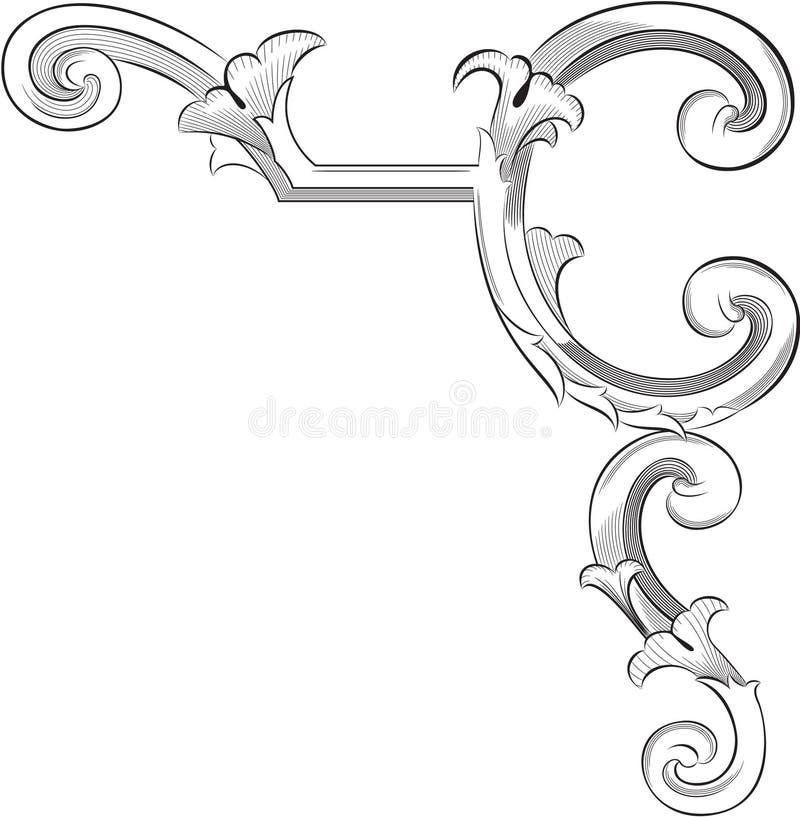 De hoekelement van de elegantie vector illustratie