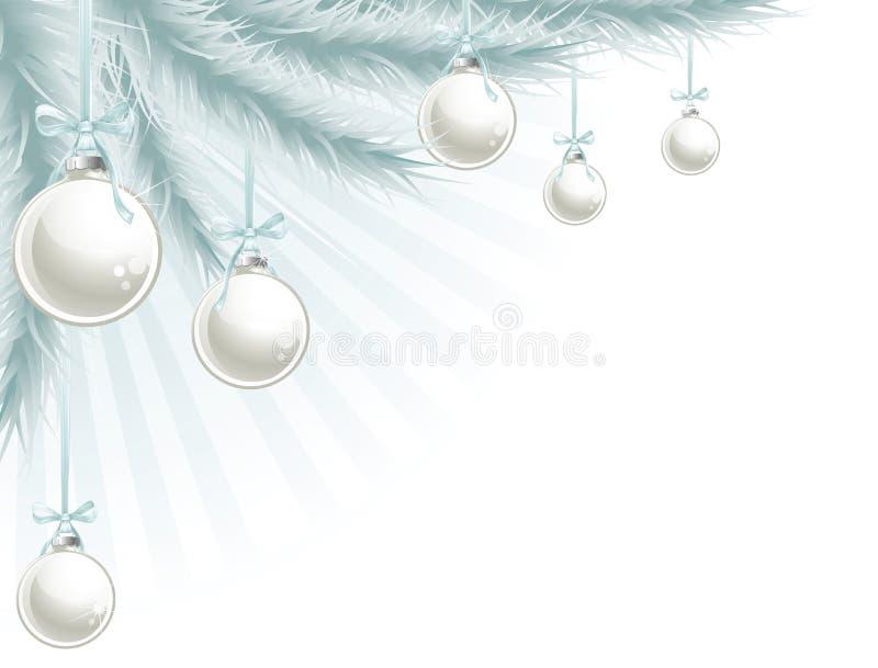 De hoekelement van de kerstboom royalty-vrije illustratie