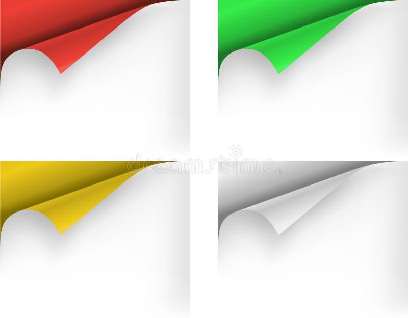 De hoeken van het document vector illustratie