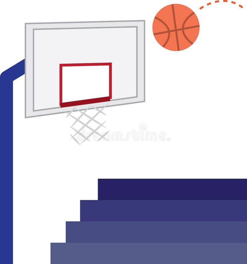 De Hoepel van het basketbal royalty-vrije illustratie