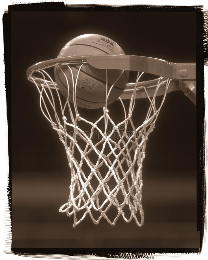 De Hoepel van het basketbalbasketbal royalty-vrije stock afbeeldingen