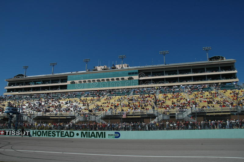 De Hoevespeedwaybaan van Miami stock fotografie