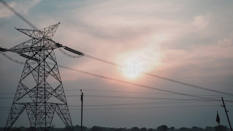 De hoge bouw van het electricalicityvoltage stock fotografie
