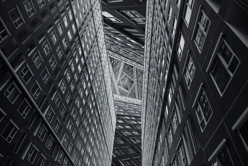 De hoge complexe bouw royalty-vrije stock foto's