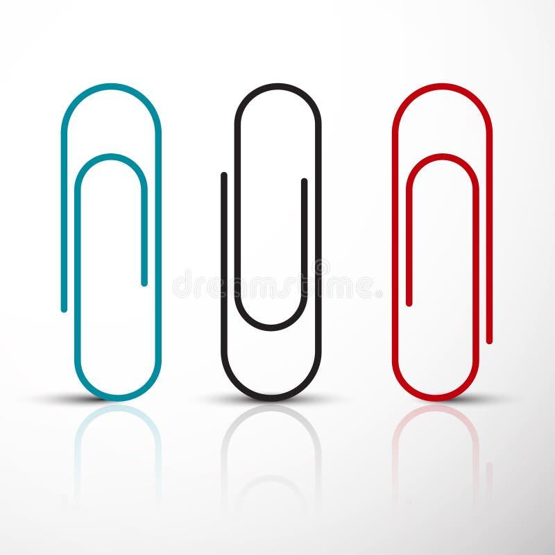 De hoge 3D resolutie geeft terug Vector Blauwe Rode en Zwarte Klemmen stock illustratie