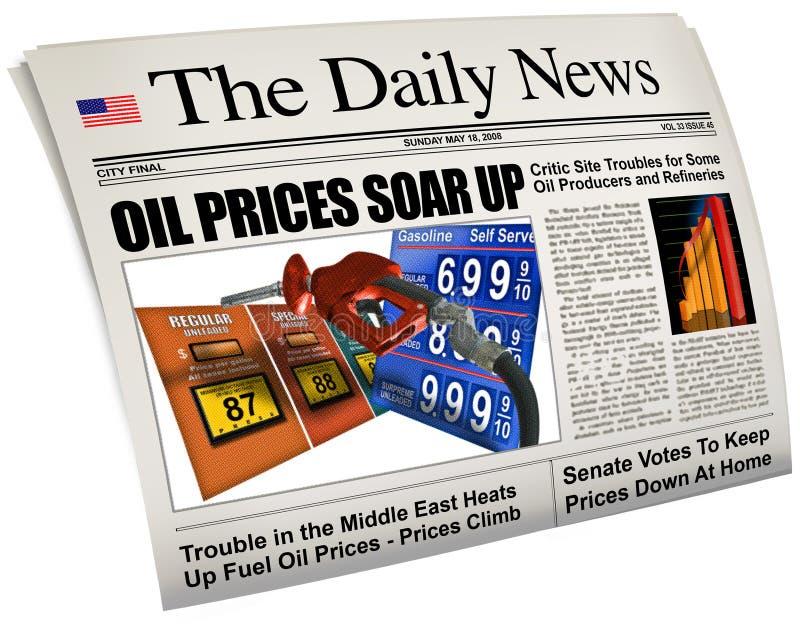 De hoge prijzen van de benzine royalty-vrije stock afbeeldingen
