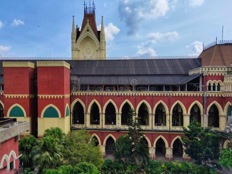De Hoge rechtsinstantie van Calcutta is de oudste Hoge rechtsinstantie in India royalty-vrije stock afbeeldingen