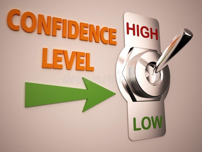 De hoge schakelaar van het vertrouwensniveau vector illustratie