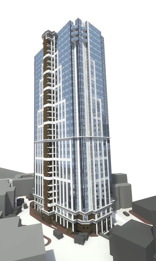De hoge stijgings moderne bouw vector illustratie