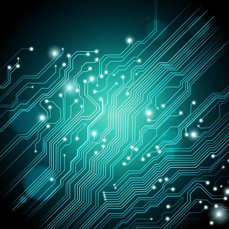 De hoge - technologieachtergrond - vector is beschikbaar stock illustratie