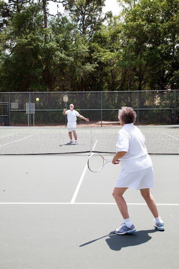 De hogere Gelijke van het Tennis royalty-vrije stock foto's