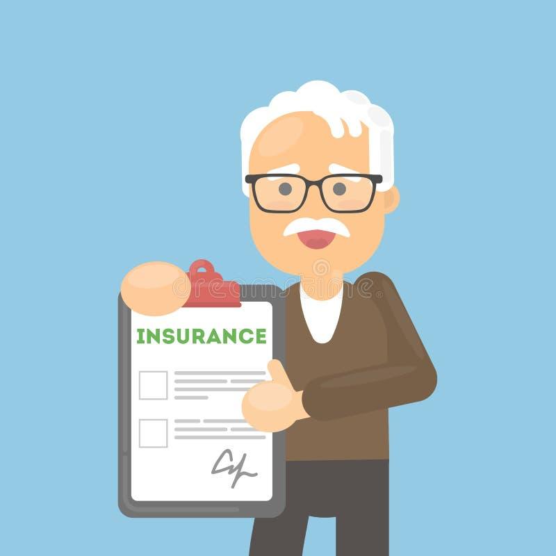 De hogere mens toont verzekering royalty-vrije illustratie