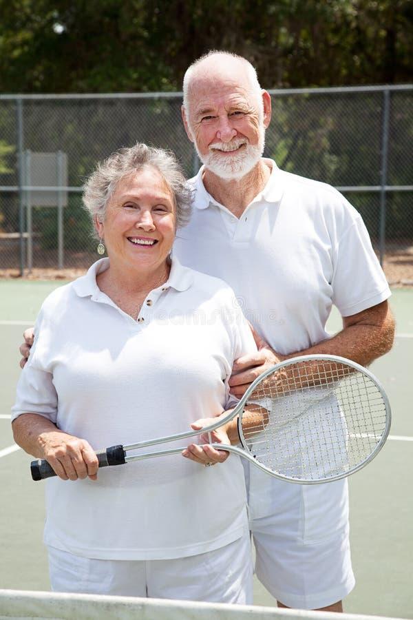 De hogere Spelers van het Tennis stock afbeeldingen