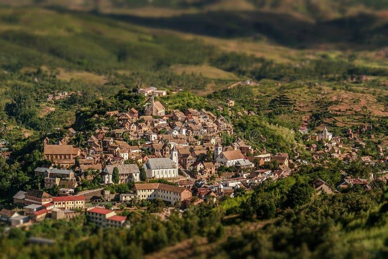 De hogere stad van Fianarantsoa stock fotografie