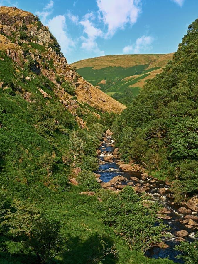 De hogere Vallei van Riviertowy stock fotografie