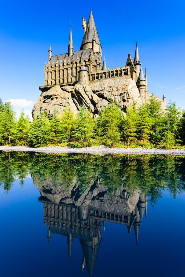 De Hogwarts-School van Harry Potter stock afbeeldingen