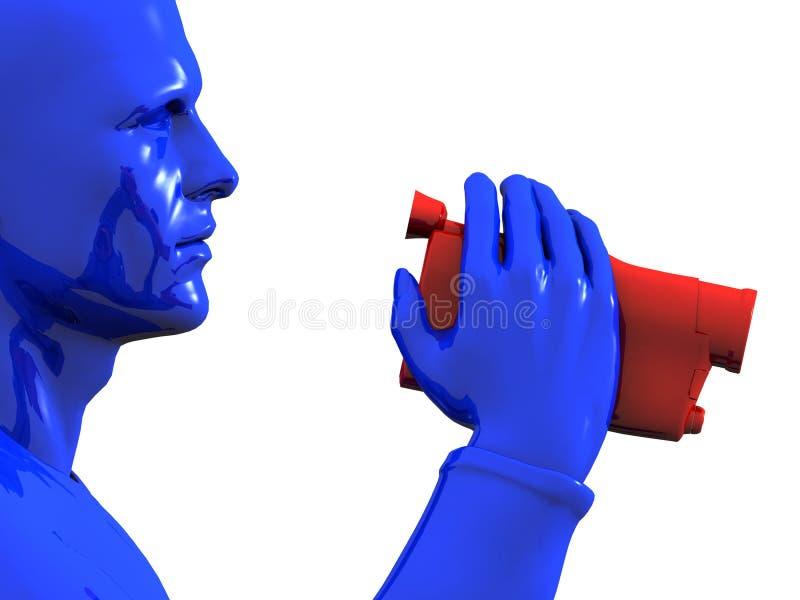 De holding van de mens camcorder vector illustratie
