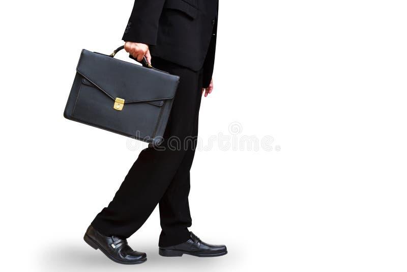 De holdingsaktentas van de bedrijfsmensenhand stock foto's