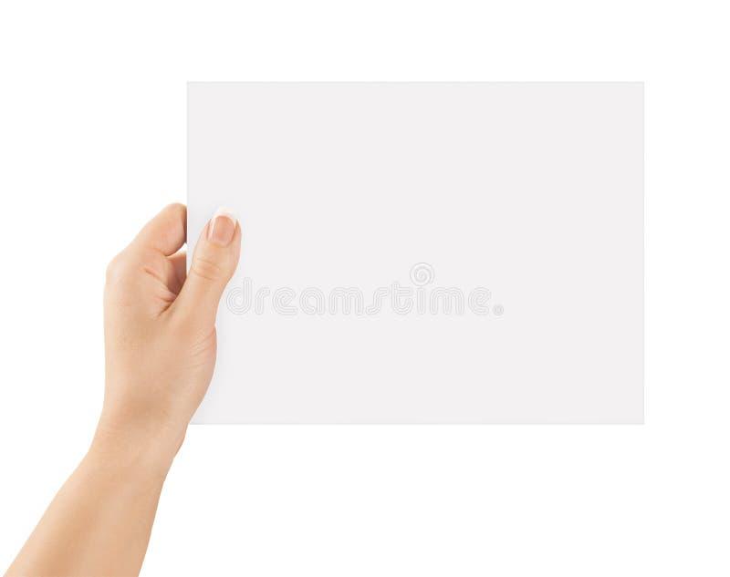 De holdingsdocument van de hand stock foto's