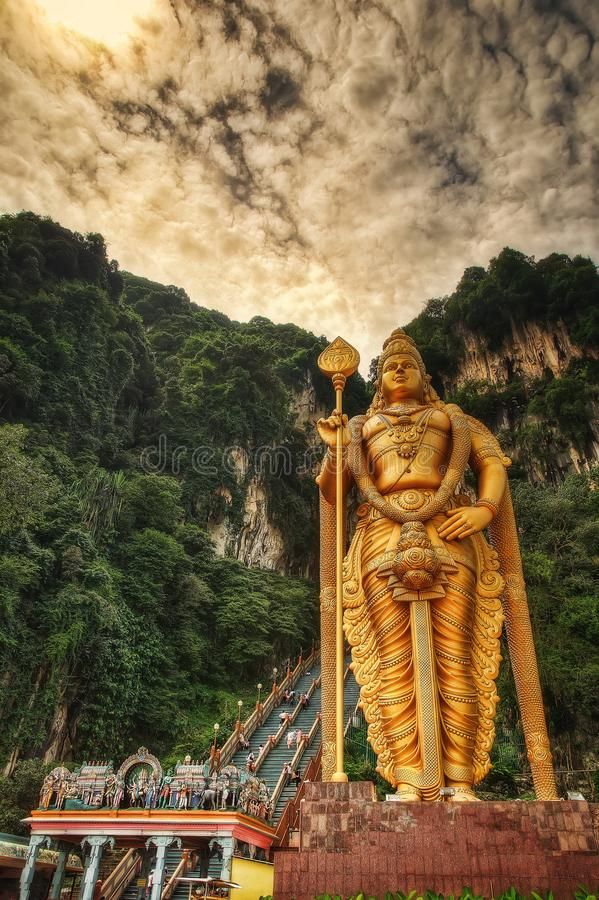 De holen van Batu, Kuala Lumpur, Maleisië royalty-vrije stock afbeelding