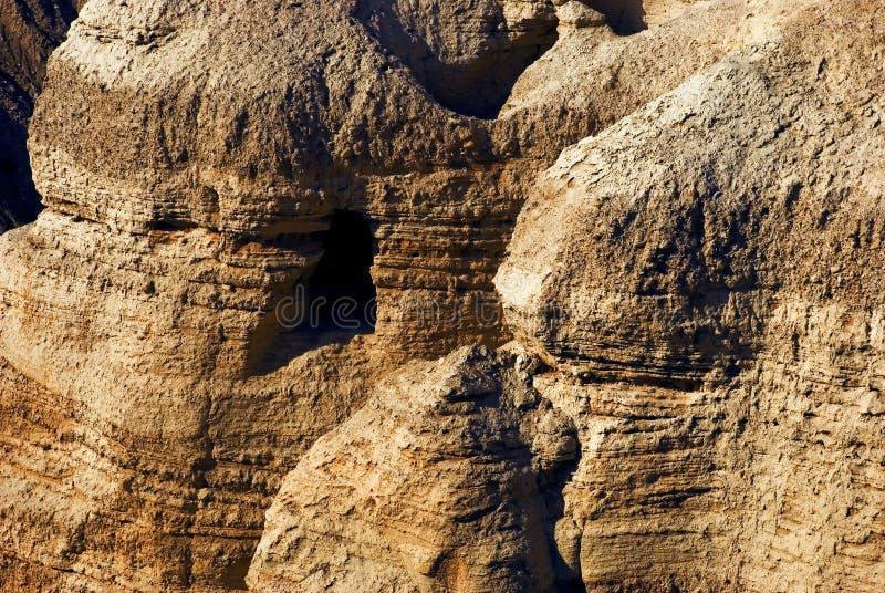 De holen van Qumran stock afbeelding