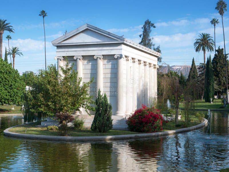 De Hollywood cemitério para sempre - jardim das legendas fotografia de stock royalty free