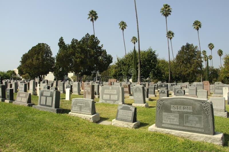 De Hollywood cimetière pour toujours images libres de droits