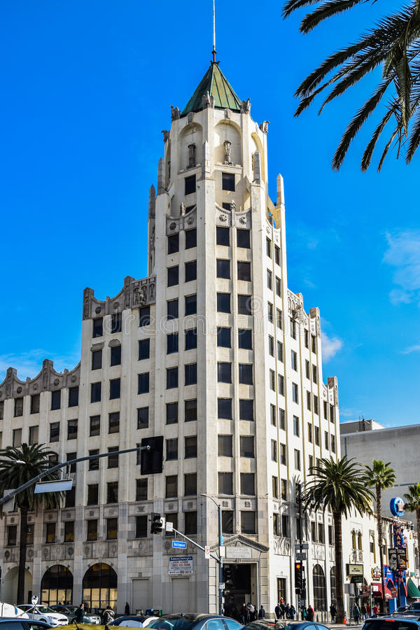 De Hollywood Eerste Nationale Bouw, Hollywood, Los Angeles, Californië, de V.S. royalty-vrije stock foto's