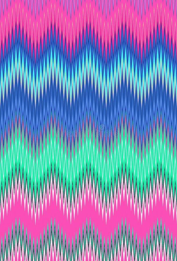 De holografische zigzag van de achtergrondhologramchevron Gradi?ntmalplaatje vector illustratie