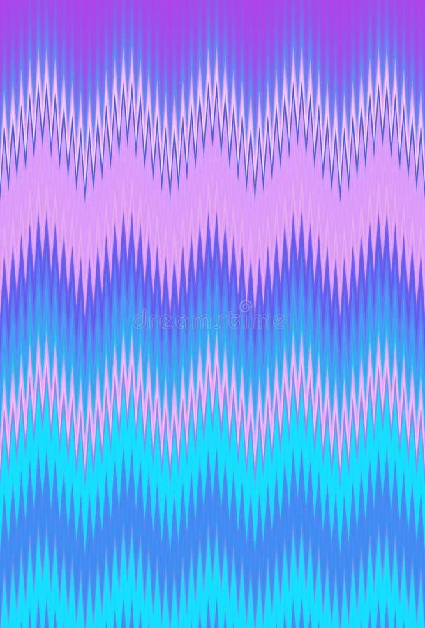 De holografische zigzag van de achtergrondhologramchevron moderne jaren '90 royalty-vrije illustratie