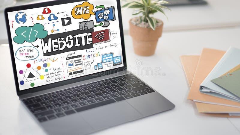 De Homepagebrowser van websiteinternet het Concept van HTML stock afbeeldingen