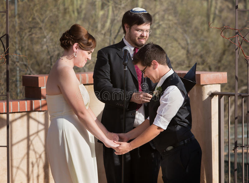 De lesbische Ceremonie van het Huwelijk stock fotografie