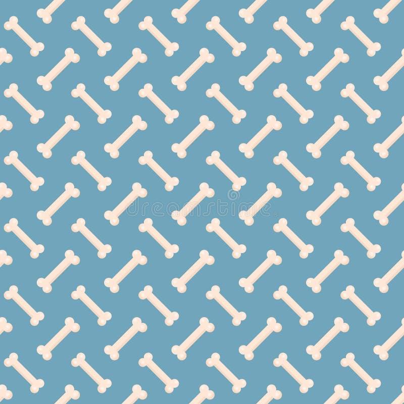 De hond beent naadloos patroon uit Been eindeloze achtergrond, een het herhalen textuur Het concept van het nieuwjaar Vector illu royalty-vrije illustratie