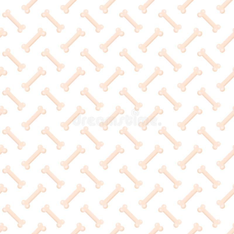 De hond beent naadloos patroon uit Been eindeloze achtergrond, een het herhalen textuur Het concept van het nieuwjaar Vector illu stock illustratie