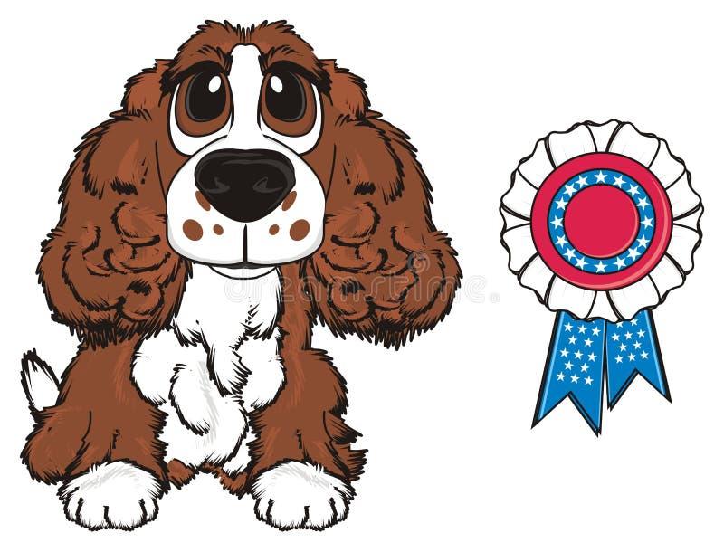 De hond is een winnaar royalty-vrije illustratie