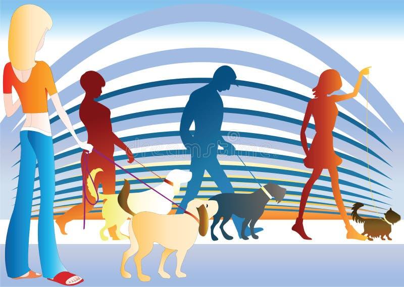 De hond toont stock illustratie