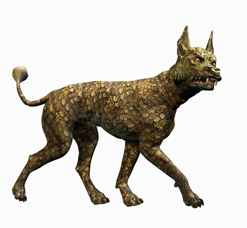 De Hond van de hagedis - omvat het knippen weg vector illustratie