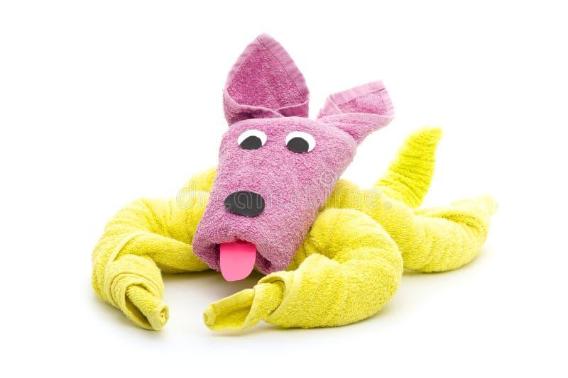 De hond van de handdoek royalty-vrije stock afbeelding