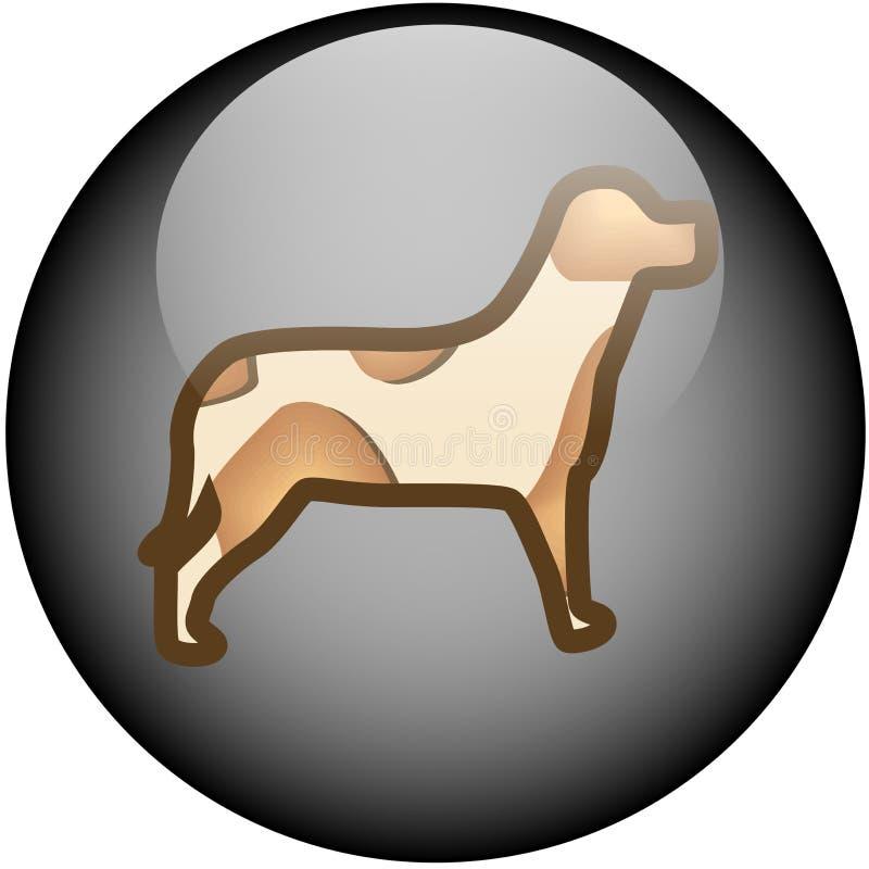 De Hond van de Knoop van het Web van het glas royalty-vrije illustratie