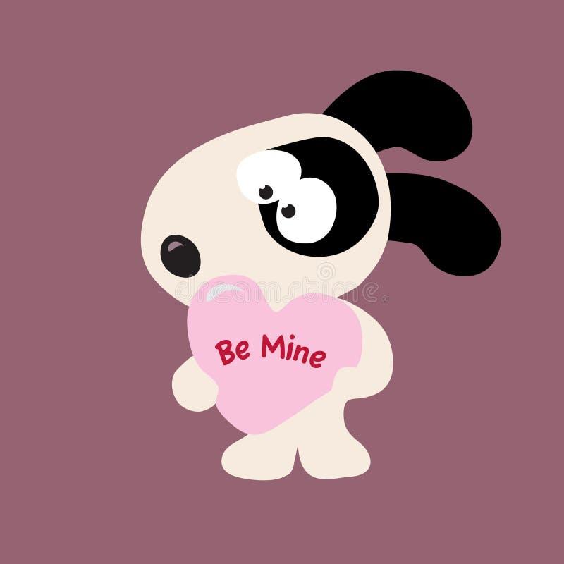 De Hond Van De Valentijnskaart Stock Foto's