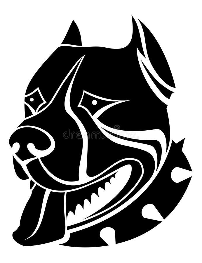 De hond van de wacht royalty-vrije illustratie