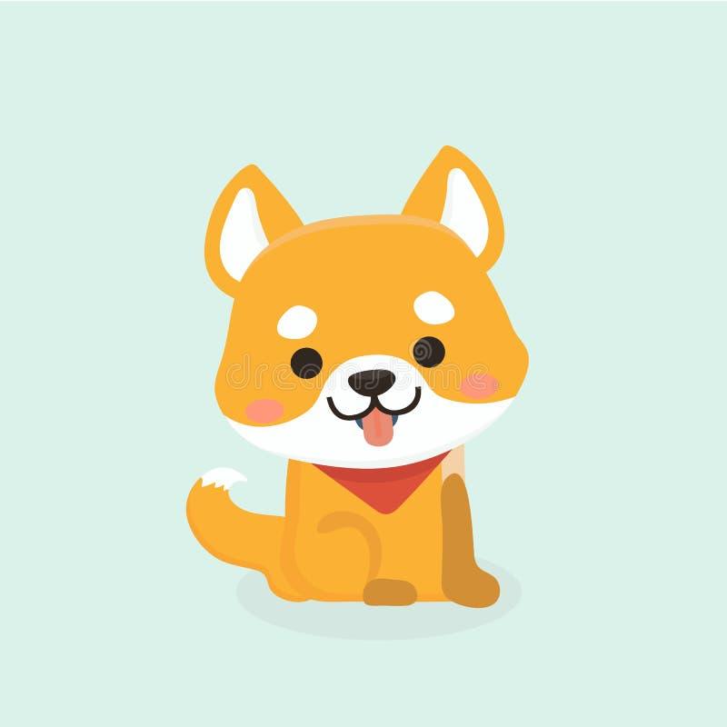 De hond van Inu van Shiba stock illustratie
