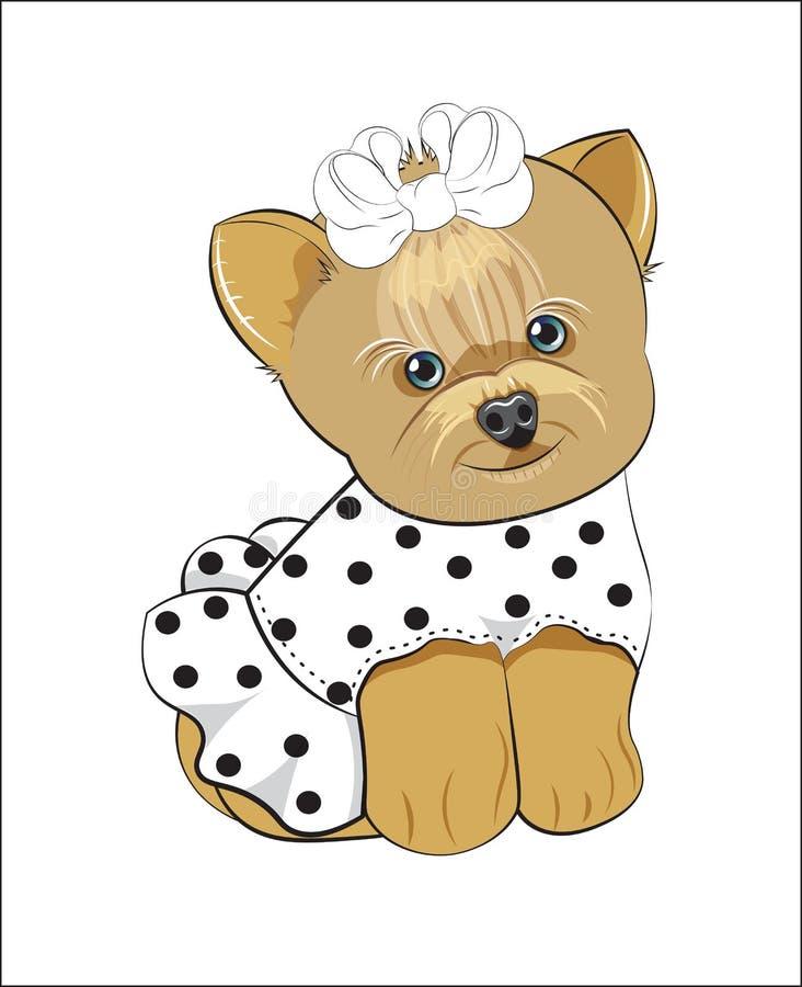 De hond van Yorkshire Terrier vector illustratie