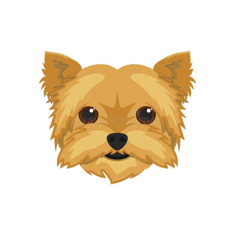 De hond vectorillustratie van Yorkshire Terrier royalty-vrije illustratie