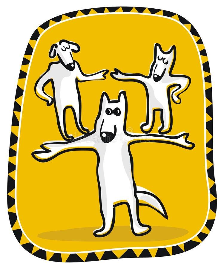 De Honden van het circus stock illustratie